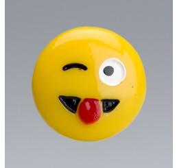 FACCINE SMILE IN PLASTICA 4 SOGG. ASSORTITI MIS. DIAM. CM. 2,3
