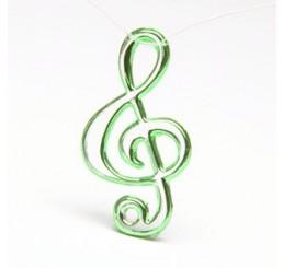 NOTA MUSICALE APPLICAZIONE IN PLASTICA  MM.42X25